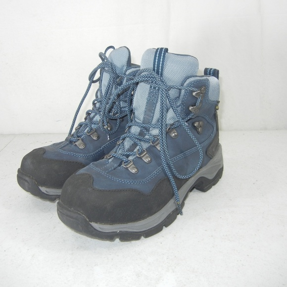 L.L. Bean Shoes - LL Bean Gore-Tex Blue Hiking Boots Women s Size 8 45a1b2406